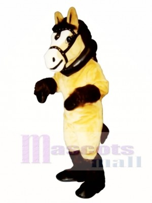 Cute Clyde Clydesdale Horse with Collar & Harness Mascot Costume Animal