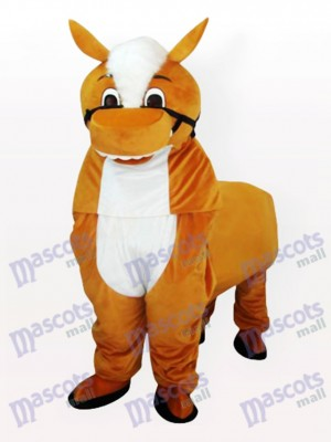 Little Brown Horse Adult Mascot Costume