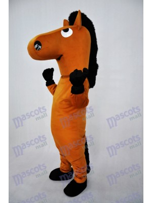 Brown Horse Plush Adult Mascot Costume Animal