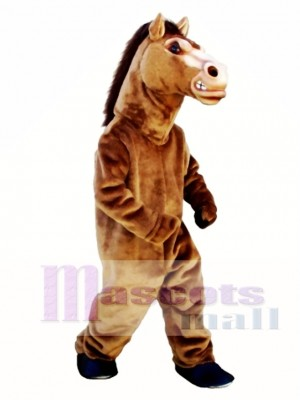Cute Fierce Stallion Horse Mascot Costume Animal