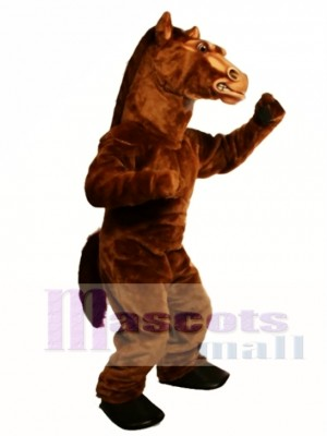 Cute Power Fierce Stallion Horse Mascot Costume Animal