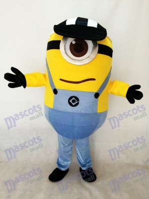 One Eye Despicable Me Minions with Hat Mascot Costume