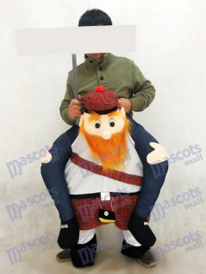 Carry Me Scottish Mascot Costume Ride On Piggy Back Scotsman