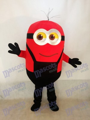 Red Grinning Despicable Me Minions Mascot Costume D