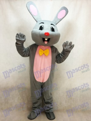 Easter Grey Bunny Gray Rabbit Hare Mascot Costume