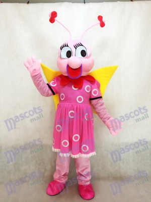 Lady Pink Bee Fenfendu Mascot Costume Insect