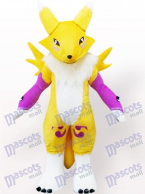 Yellow Digimon Frontier Digital Monster Anime Adult Mascot Costume