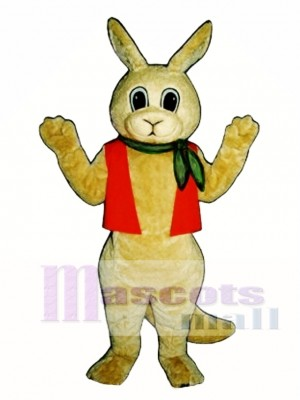 Aussie Roo Kangaroo with Neckerchief & Vest Mascot Costume Animal