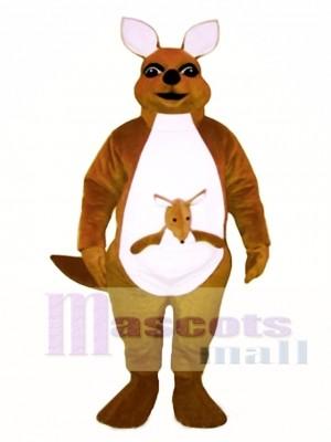 Mrs. Kangaroo with Joey Mascot Costume Animal