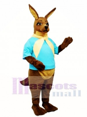 Cute Joe Kangaroo with Shirt & Tie Mascot Costume Animal