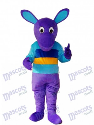 Purple Kangaroo Mascot Adult Costume Animal