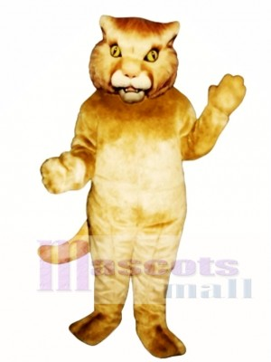 Golden Panther Mascot Costume Animal