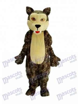 White Face Panther Mascot Adult Costume Animal
