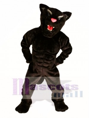 Muscle Panther Mascot Costume Animal