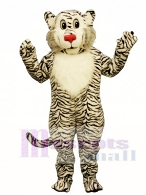 Shy White Lion Mascot Costume Animal