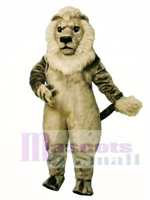 Old Grey Lion Mascot Costume Animal