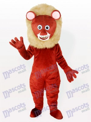 Brown Male Lion Adult Animal Mascot Costume