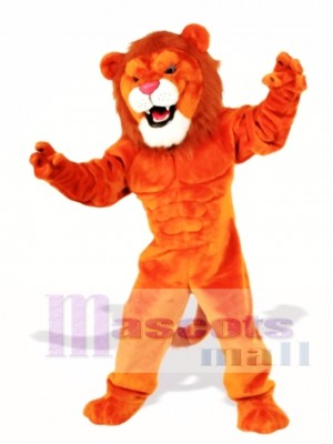 Cute Power Cat Lion Mascot Costume Animal