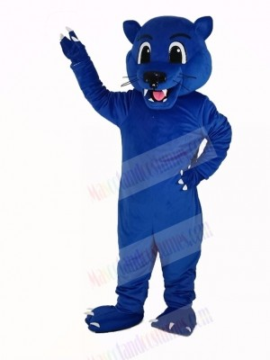 Blue Panther Leopard Mascot Costume Animal