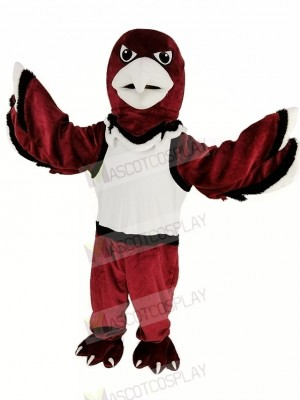 Red Warhawk Eagle with White Vest Mascot Costume