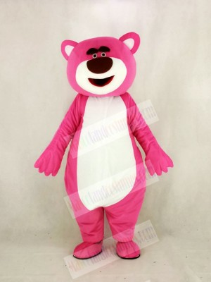 Pink Bear Mascot Costume Cartoon