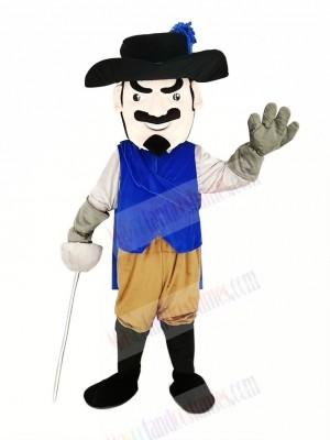 Cavalier Rapid with Blue Coat Mascot Costume People