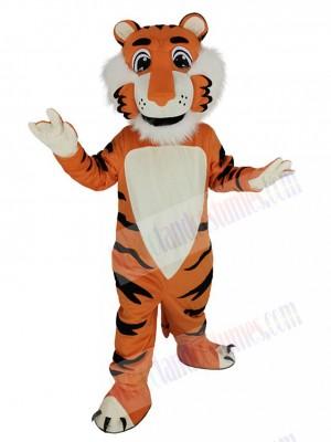 Friendly Orange Tiger Mascot Costume Animal