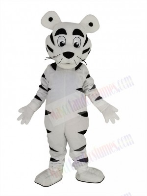 Funny White Tiger Mascot Costume Animal