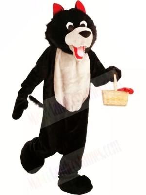 Black Wolf Mascot Costume Free Shipping