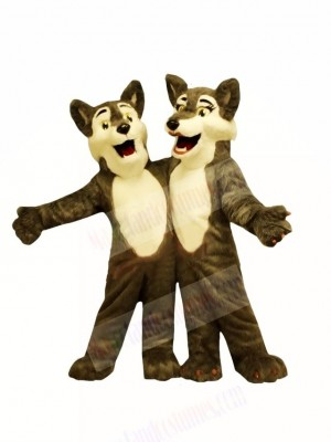 Boy & Girl Wolf Mascot Costumes