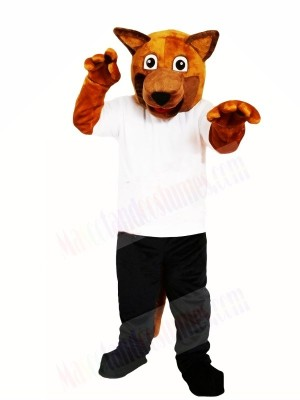 Brown Dog Mascot Costume Free Shipping