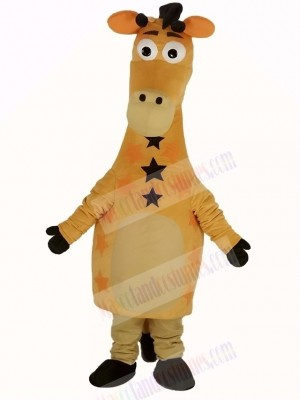Cute Yellow Giraffe Mascot Costume