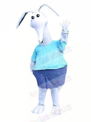 White Aardvark Mascot Costumes Cartoon