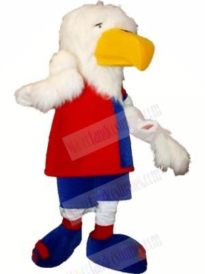 Cute White Eagle Mascot Costumes Cartoon