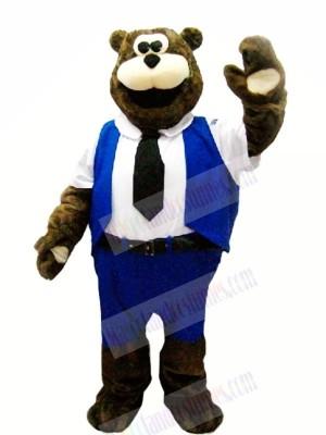 Worker Bear Mascot Costumes Cartoon