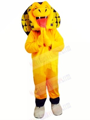 Yellow Cobra Snake Mascot Costume Cartoon