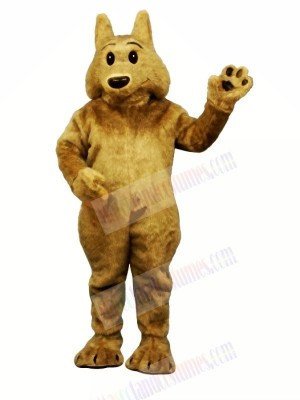 Brown Wolf with Black Eyes Mascot Costumes Cartoon