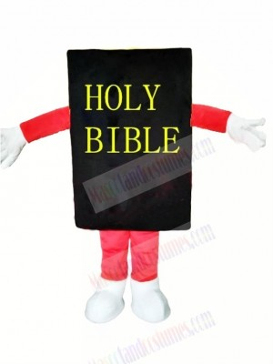 Black Bible Mascot Costume Cartoon