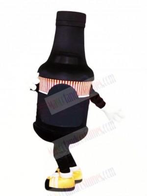Funny Black Bottle Mascot Costume Cartoon