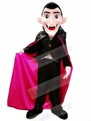 Dracula Vampire with Blue Eyes Mascot Costume Cartoon