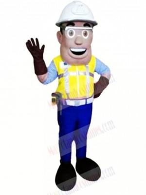 Smiling Engineer Mascot Costume People