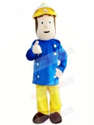 Brave Fireman Mascot Costume Cartoon