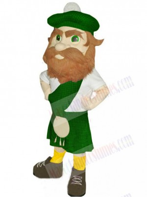 Highlander with Green Hat Mascot Costume People