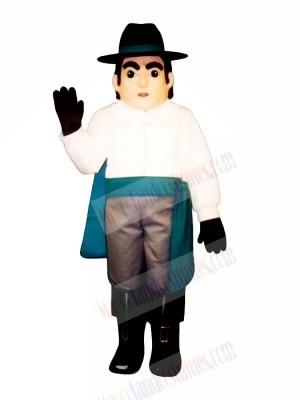 Raider with Black Hat Mascot Costume People