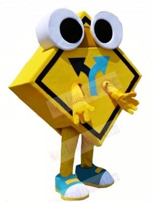 Road Sign Mascot Costume Cartoon