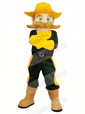 Cowboy with Green Eyes Mascot Costume Cartoon