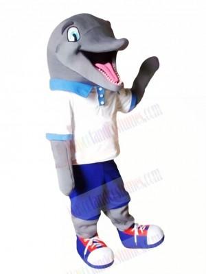 Cute Sport Dolphin Mascot Costume Cartoon