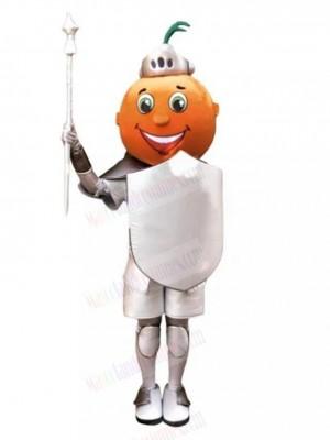 Orange Cartoon Knight Mascot Costume
