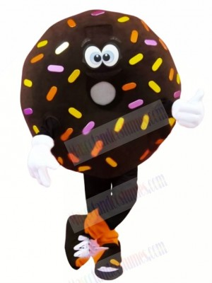 Funny Brown Donut Mascot Costume Cartoon