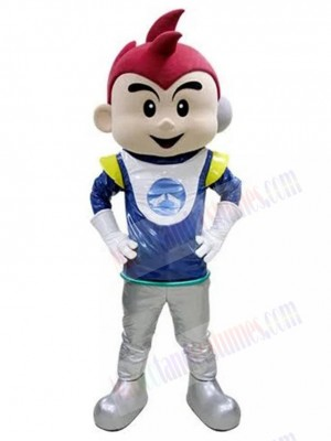 Cute Astronaut Boy Cosmonaut Mascot Costume People